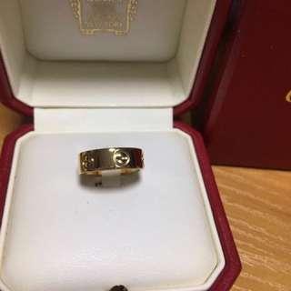 Cartier Love Ring 18K 黃金戒指size 46
