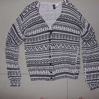 Cardigan HnM White And Black