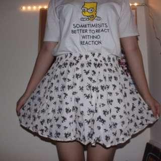 Bershka Skirt Floral Rok