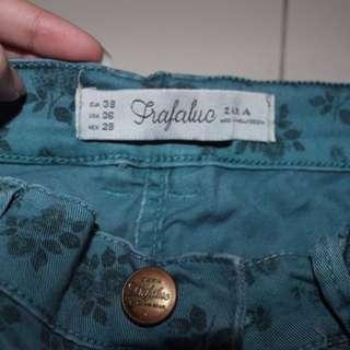 Zara Floral Jeans
