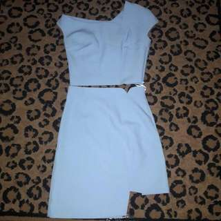Oneset Baby Blue Top And Skirt