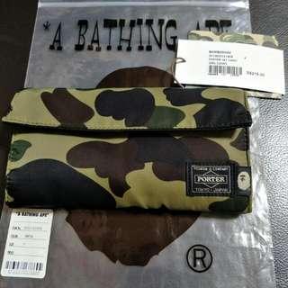 Bathing Ape X Porter Wallet Color Green