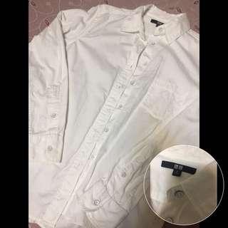 Uniqlo襯衫(白)(免運)
