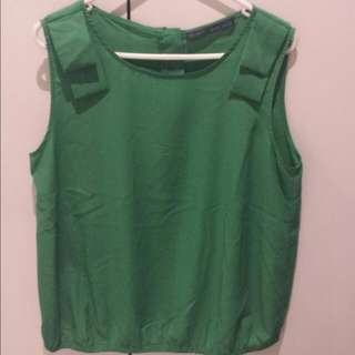 Ribbon Green Top