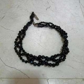 Black Necklace Stone Elegant, Like New
