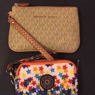 Michael Kors And Kipling Pouch