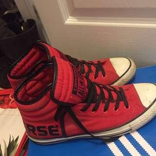 Red Hightop Converse