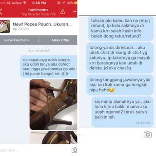[PART 2] KETIPU BARANG DEFECT -- BUKTI CHAT