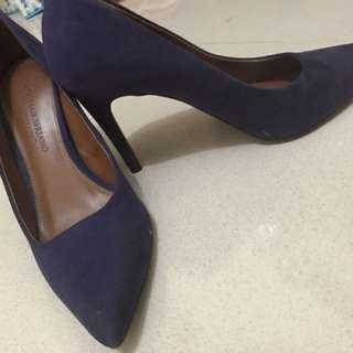 premium high heels christian siriano size 7 1/2 warna ungu tua heel +- 10cm
