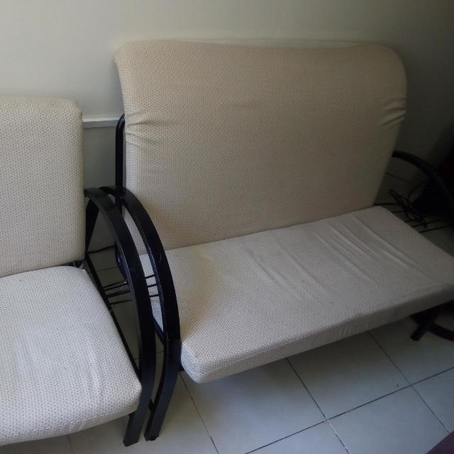 2 sofa with 2 single chairs for sale