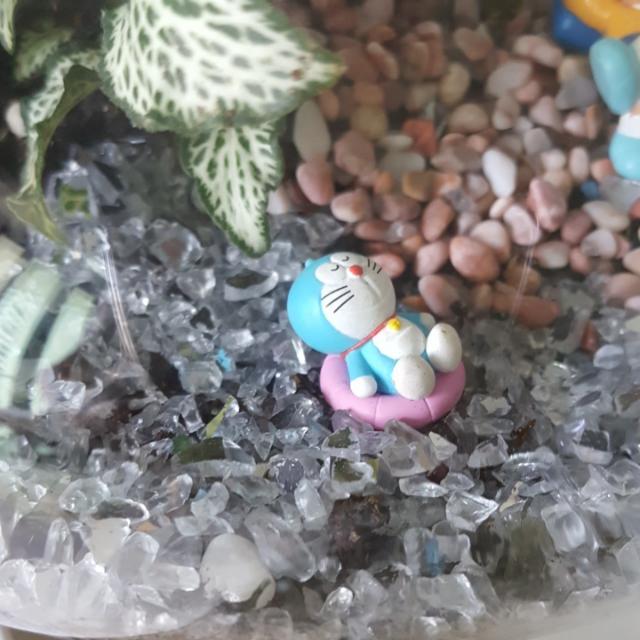 33cm High Doraemon Terrarium - Siesta By The Beach