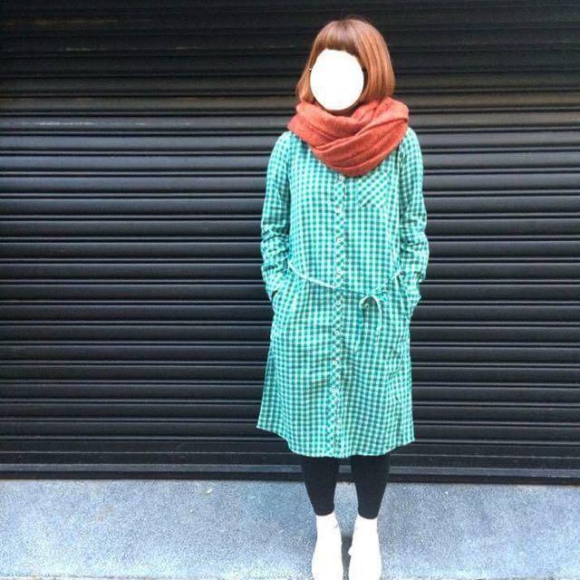 日本製長版棉質襯衫洋裝