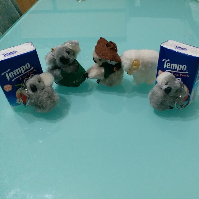 全新澳洲樹熊及羊公仔鎖匙扣