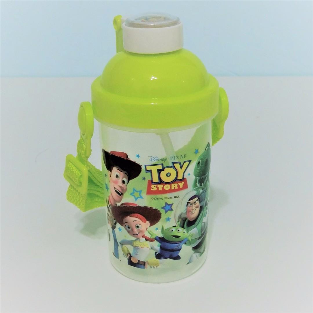 迪士尼 玩具總動員 彈跳杯蓋水壺 (含可調整背帶)