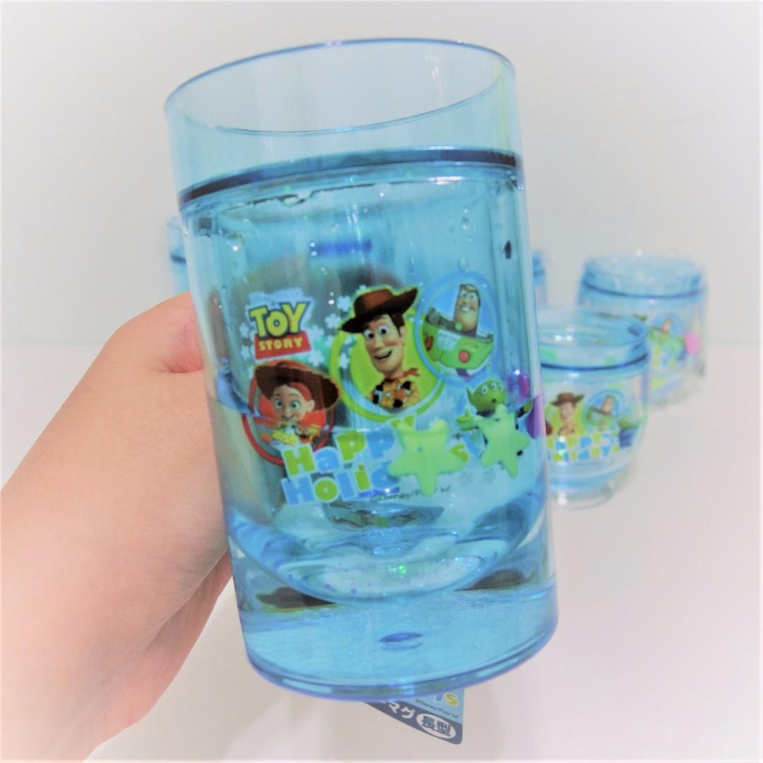 迪士尼 玩具總動員 漂浮水杯 漱口杯 長型