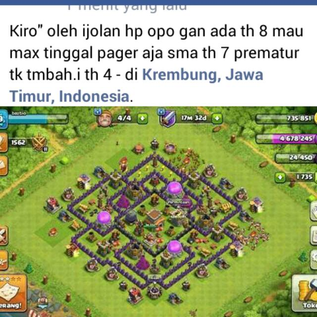 Akun Coc Th 8 And Th 7 Video Game Game Di Carousell