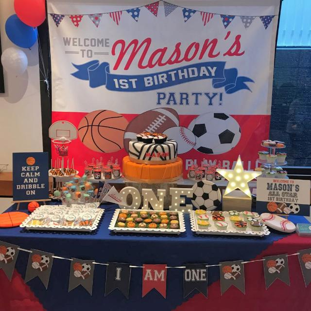 Terrific Any Theme All Star Sports Theme Dessert Table Candy Bar Party Funny Birthday Cards Online Bapapcheapnameinfo