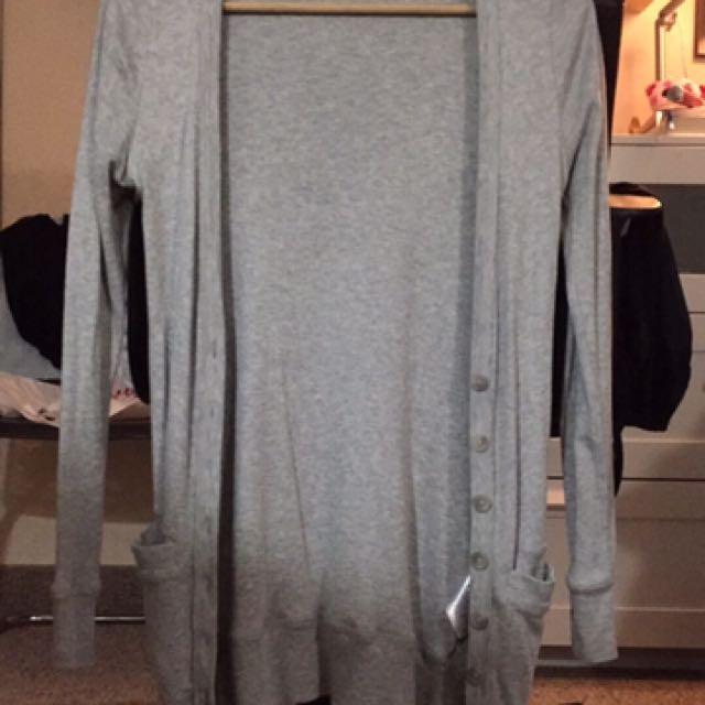 Aritzia Grey Cardigan