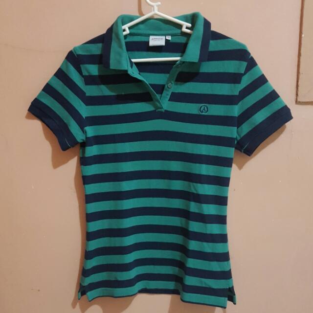 Arrow Striped Polo Shirt
