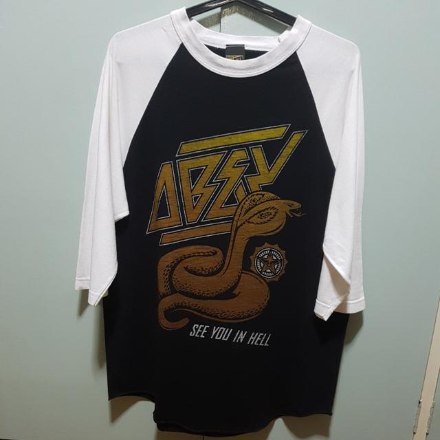 """Authentic OBEY """"See You In Hell"""" Shirt (Size L)"""