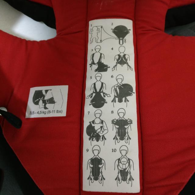 c3060805894 Baby Bjorn Original Carrier (black-red) on Carousell