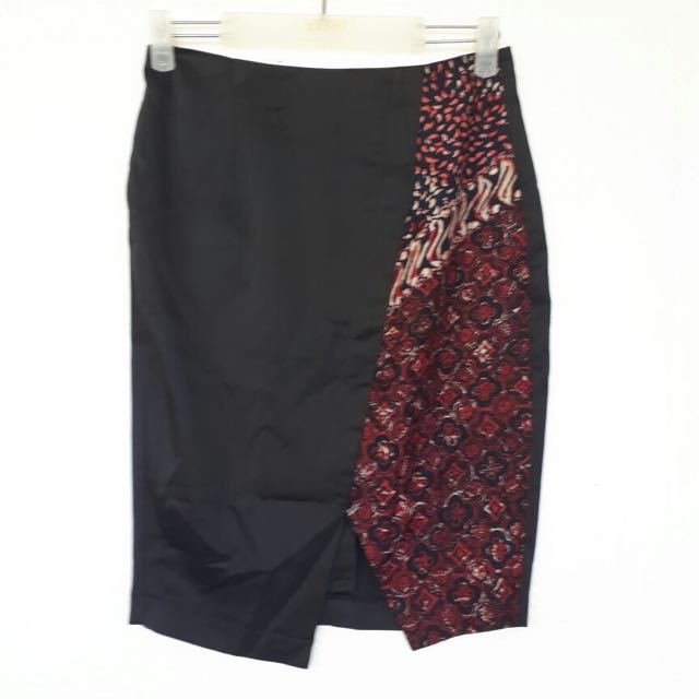 Batik Pencil Skirt Size M
