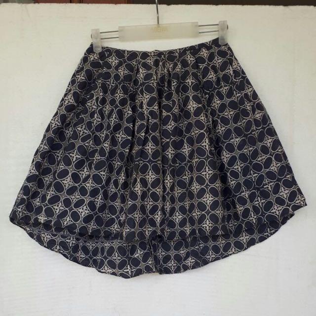 Batik Skirt In Blue Size M