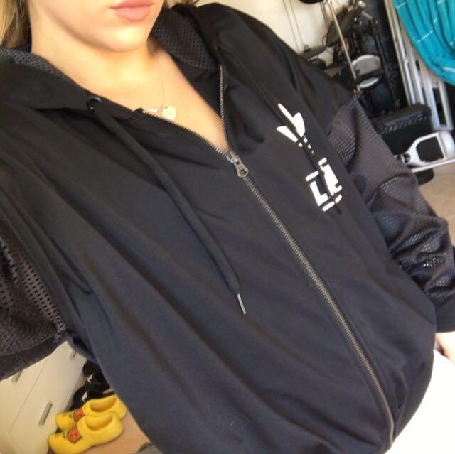 Black Adidas Net Arm Hoodie Size M