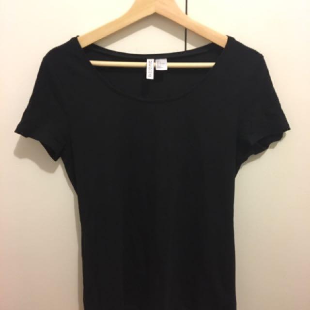 Black Basic H&M Tshirt x3