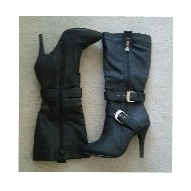 Black High Heel Boots (5)