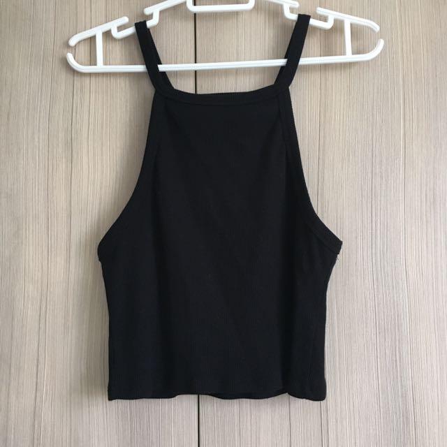 Black Ribbed tank Top / Small