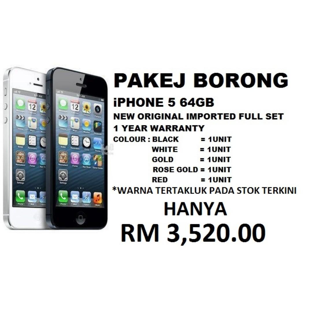 BORONG iPHONE 5 64GB ORIGINAL IMPORTED FULL SET 12c9e4c1a6