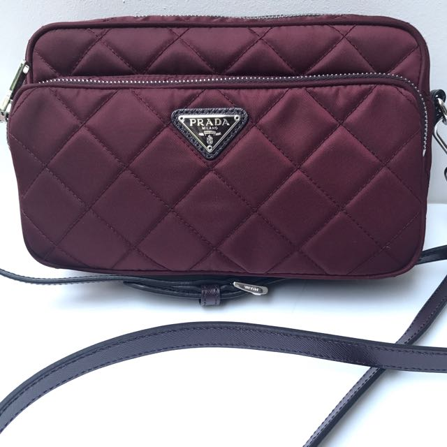 46ba57ddd1dd cheap brand new100 authentic prada granato tessuto crossbody sling bag  bt1027 luxury bags wallets on carousell