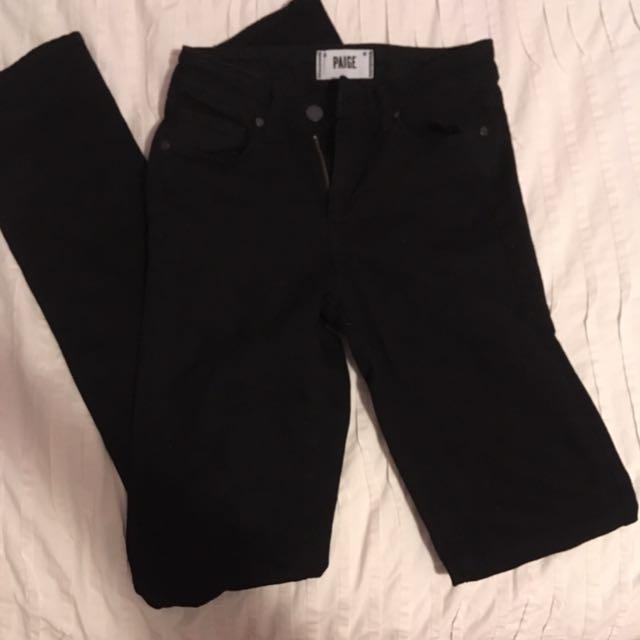 BRAND NEW DESIGNER PAIGE Black Denim Jeans