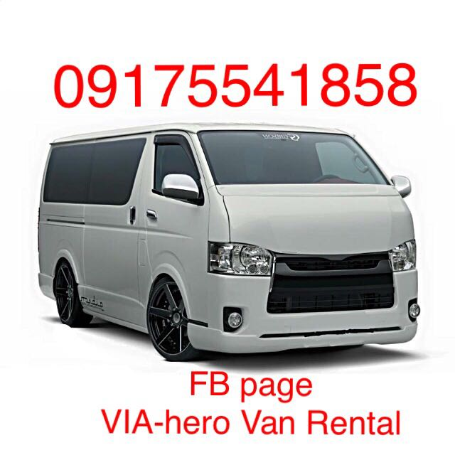 ebb868fb93 Brand New Toyota Hiace Van For Rent And For Hire