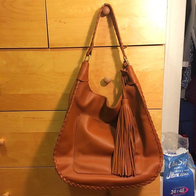 Brown Mark&Hall Hobo Bag (Vegan Leather)