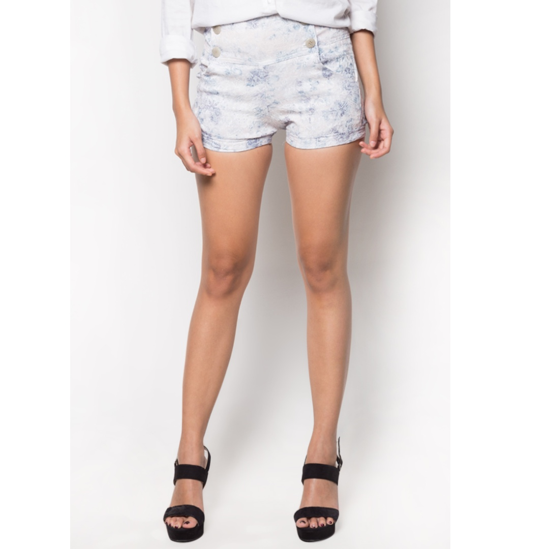 Button Shorts Blue
