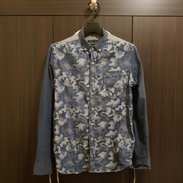 Camouflage Blue Longsleeves - Medium Slimfit