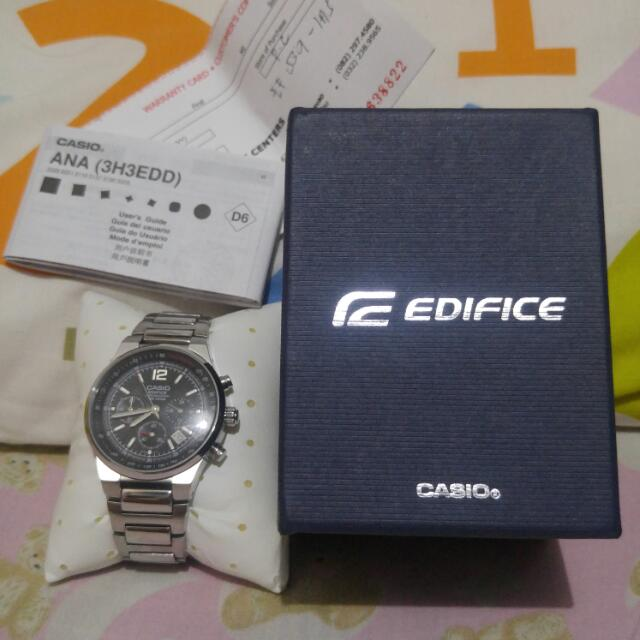 Casio Edifice Watch (Authentic) Model: ANA (3H3EDD)  Complete with Box, Manual and Warranty Certificate Used mga 10times lang then nakatago na... Mukang bago pa..  Repriced Php2500.00