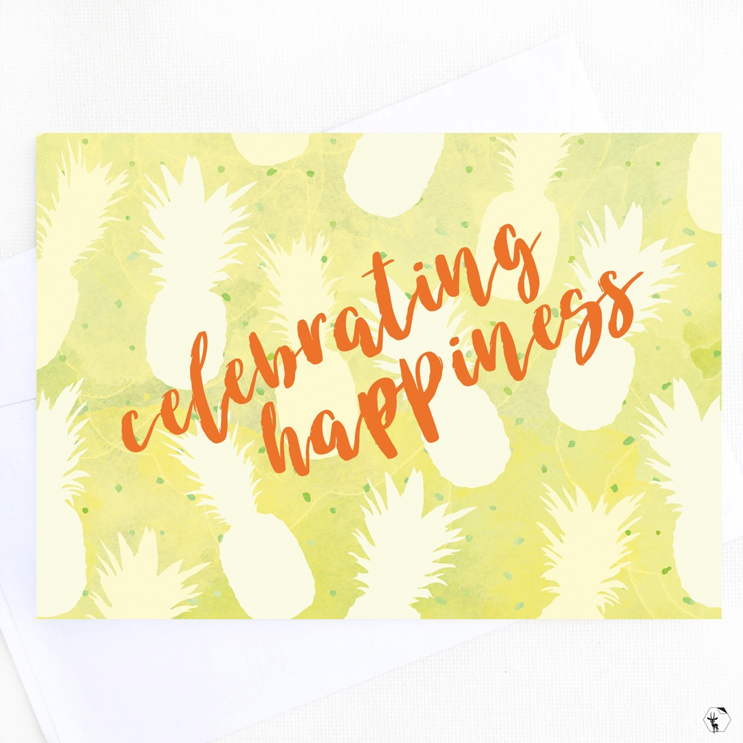 Celebrating Happiness Greeting Card