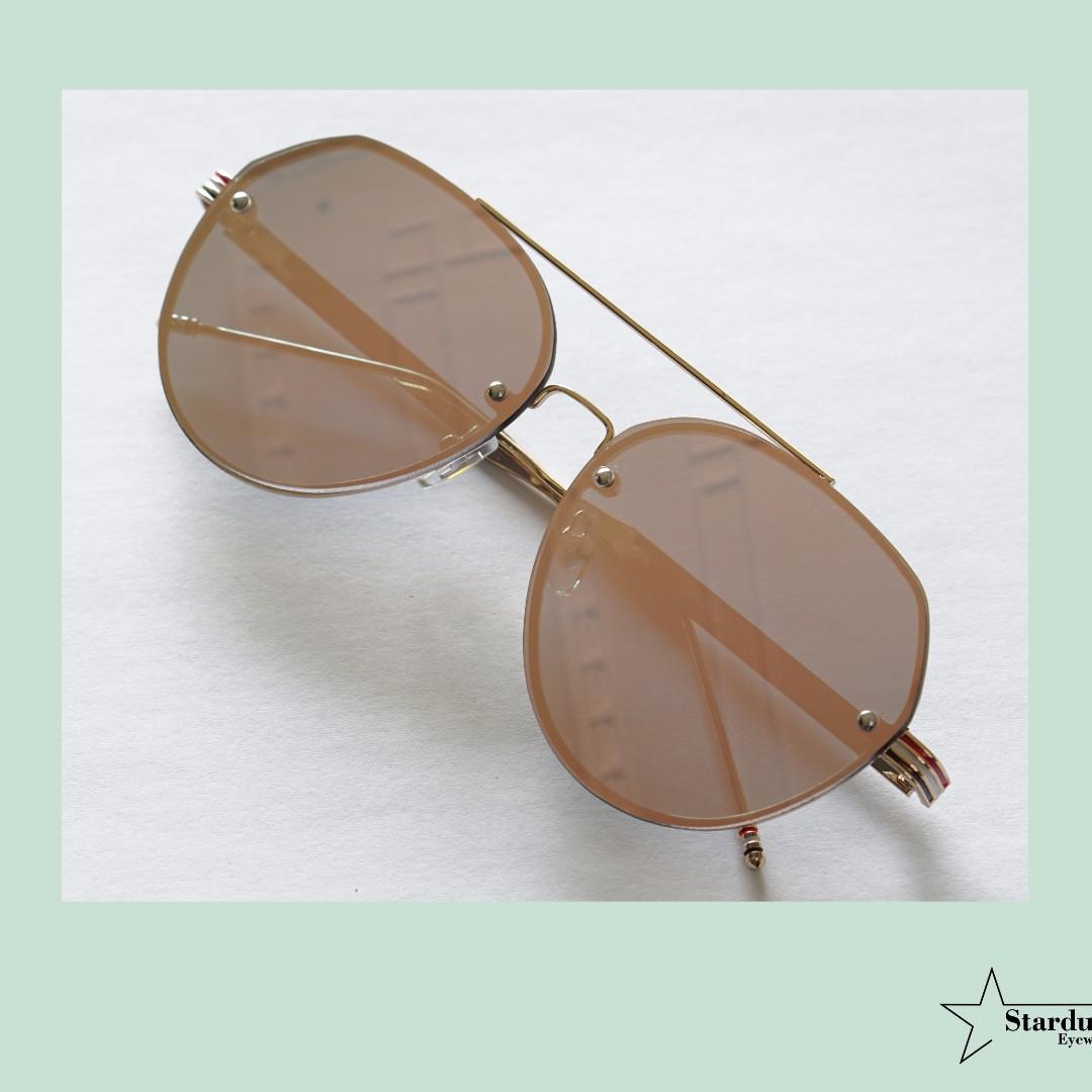 Clarky Rose Gold Kacamata Fashion ( Sunglasses )