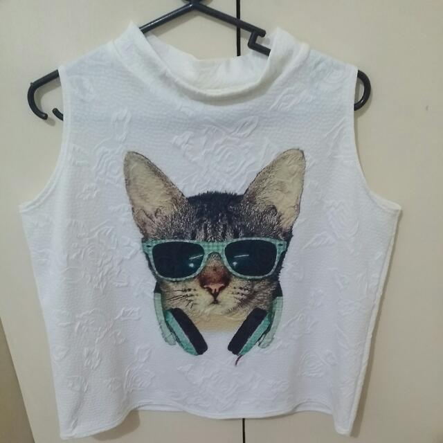 Crop Top Kitty Blouse