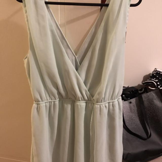 Dotti Mint V Plunge Dress Size 10