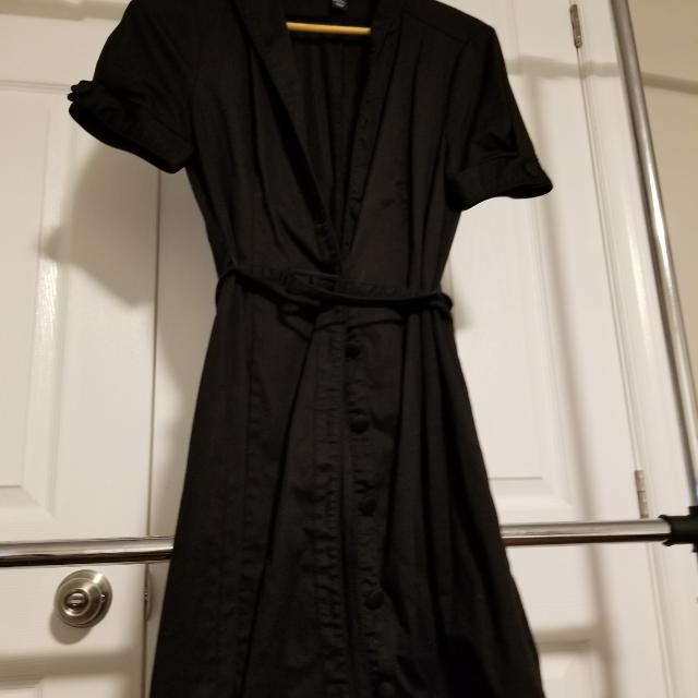 Elegant, Sophisticated & Classic Black Dress Size 4 Euro Purchased in Amsterdam H&M