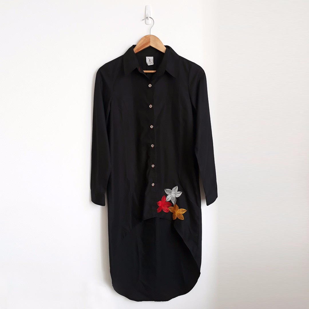 Embroidery Black Shirt