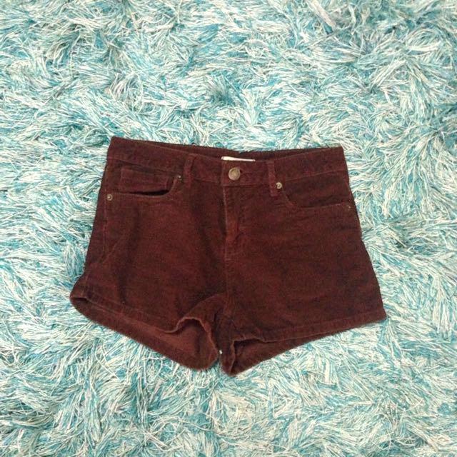 F21 Corduroy Highwaisted Shorts