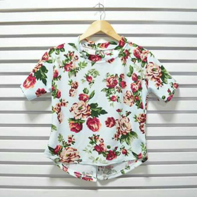 Floral Blouse Mint