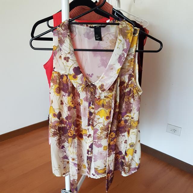 Floral H&M Top Sz Us2
