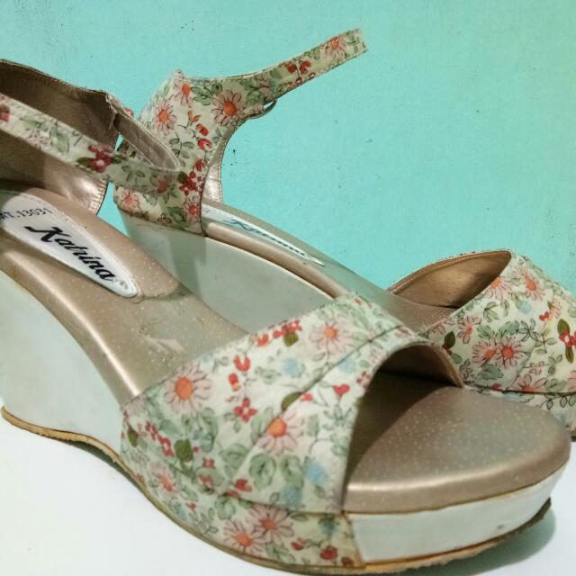 Floral Wedge Shoes