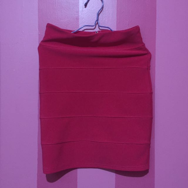 Fuchsia Pencil Skirt